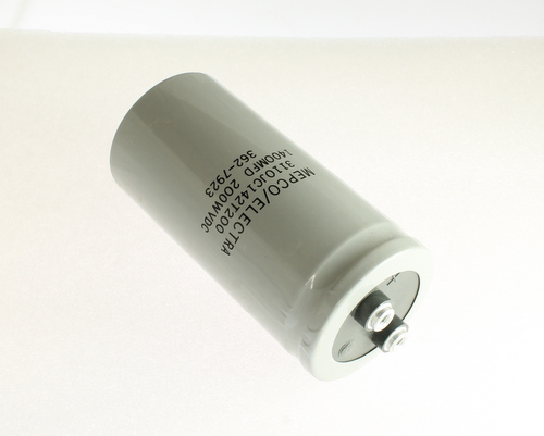 Picture of 3110JC142T200 PHILIPS capacitor 1,400uF 200V Aluminum Electrolytic Large Can Computer Grade