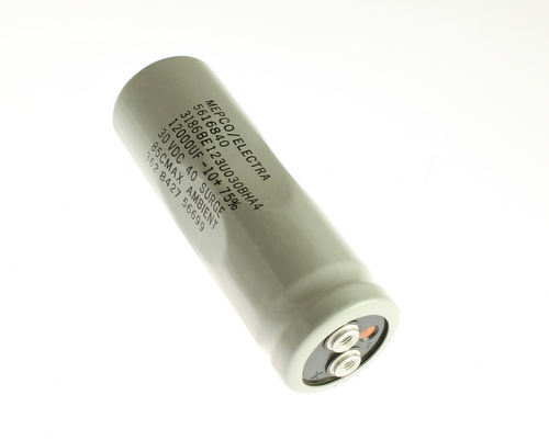 Picture of 3186BE123U030BHA4 MEPCO capacitor 12,000uF 30V Aluminum Electrolytic Large Can Computer Grade