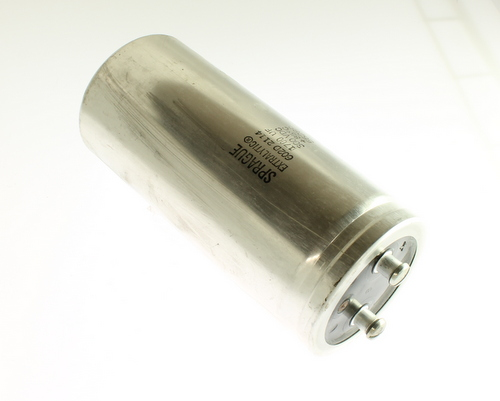 Picture of 602D172F300CF2B SPRAGUE capacitor 1,700uF 300V Aluminum Electrolytic Large Can Computer Grade