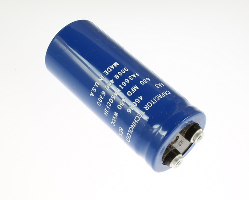 Picture of FA3681F450CF1H CAPACITOR TECHNOLOGY capacitor 680uF 450V Aluminum Electrolytic Large Can Computer Grade