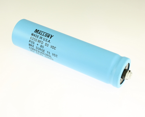 Picture of CGR622U050R5L MALLORY capacitor 6,200uF 50V Aluminum Electrolytic Large Can Computer Grade