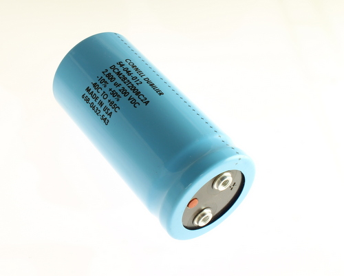 Picture of DCM282T200BC2A Cornell Dubilier (CDE) capacitor 2,800uF 200V Aluminum Electrolytic Large Can Computer Grade