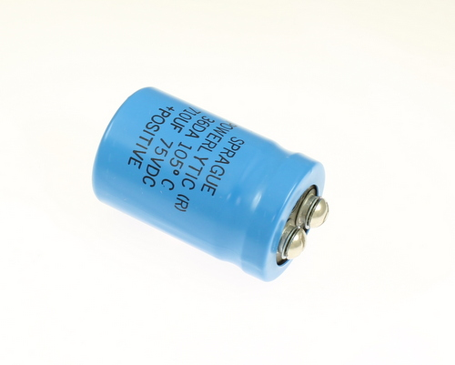 Picture of 36DA711G075AA2A SPRAGUE capacitor 710uF 75V Aluminum Electrolytic Large Can Computer Grade High Temp