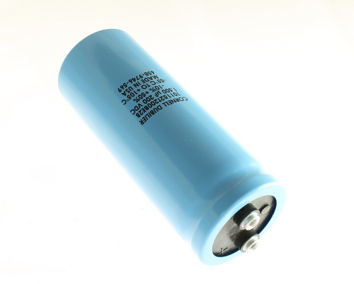 Picture of 101152T200BE2B Cornell Dubilier (CDE) capacitor 1,500uF 200V Aluminum Electrolytic Large Can Computer Grade