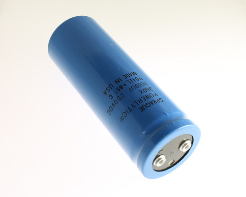Picture of 36DX302F250BF2A SPRAGUE capacitor 3,000uF 250V Aluminum Electrolytic Large Can Computer Grade