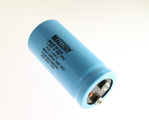 Picture of CGR102T200V4C Mallory capacitor 1,000uF 200V Aluminum Electrolytic Large Can Computer Grade High Temp