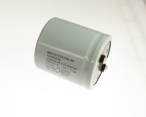 Picture of 3186GC453U050APA2 PHILIPS capacitor 45,000uF 50V Aluminum Electrolytic Large Can Computer Grade