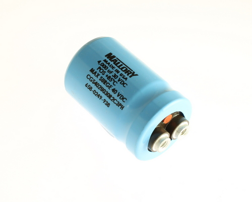Picture of CGS402U030R2C3PH Mallory capacitor 4,000uF 30V Aluminum Electrolytic Large Can Computer Grade