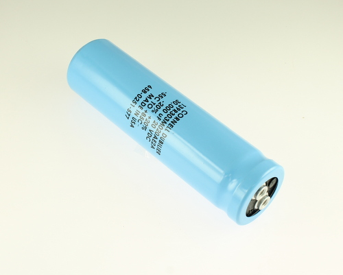Picture of 139R303M020AE2A Cornell Dubilier (CDE) capacitor 30,000uF 20V Aluminum Electrolytic Large Can Computer Grade