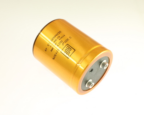 Picture of LEYM01HJ433M02 RODERSTEIN capacitor 3,300uF 160V Aluminum Electrolytic Large Can Computer Grade