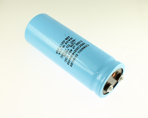 Picture of 550C202T400BF2B CDE capacitor 2,000uF 400V Aluminum Electrolytic Large Can Computer Grade
