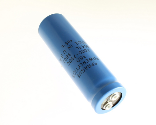 Picture of 36D302G075AD2A SPRAGUE capacitor 3,000uF 75V Aluminum Electrolytic Large Can Computer Grade