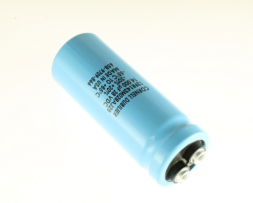 Picture of 139R143M028AJ2B Cornell Dubilier (CDE) capacitor 14,000uF 28V Aluminum Electrolytic Large Can Computer Grade