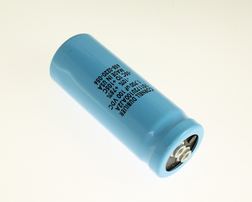 Picture of 101172U100AJ2A Cornell Dubilier (CDE) capacitor 1,700uF 100V Aluminum Electrolytic Large Can Computer Grade