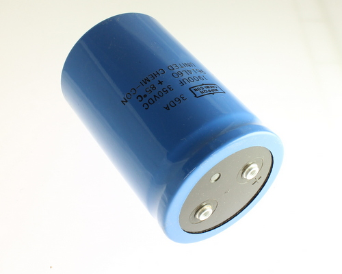 Picture of 36DA192F350DD2A UNITED CHEMICON capacitor 1,900uF 350V Aluminum Electrolytic Large Can Computer Grade