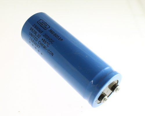 Picture of 36D292F200BF2B UNITED CHEMICON capacitor 2,900uF 200V Aluminum Electrolytic Large Can Computer Grade