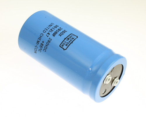 Picture of 36DX202F200BC2A UCC capacitor 2,000uF 200V Aluminum Electrolytic Large Can Computer Grade
