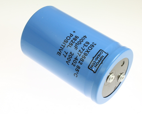 Picture of 36DX402F200CC2A UNITED CHEMICON capacitor 4,000uF 200V Aluminum Electrolytic Large Can Computer Grade