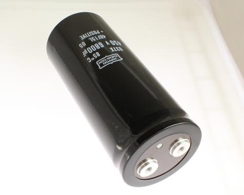 Picture of E37X451CPN682MEJ1M UCC capacitor 6,800uF 450V Aluminum Electrolytic Large Can Computer Grade