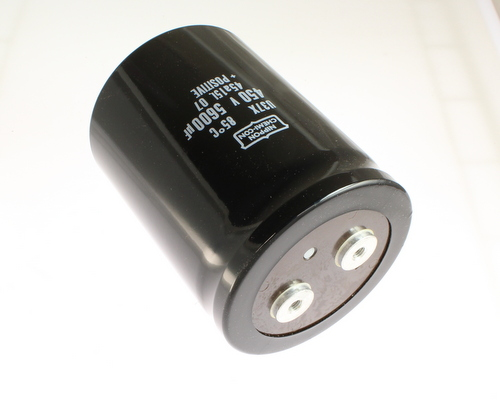 Picture of E37X451CPN562MFB7M UCC capacitor 5,600uF 450V Aluminum Electrolytic Large Can Computer Grade