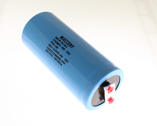Picture of CGS272T400W5L7PH MALLORY capacitor 2,700uF 400V Aluminum Electrolytic Large Can Computer Grade