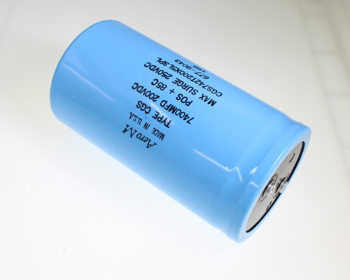 Picture of CGS742T200X5L3PL AERO-M capacitor 7,400uF 200V Aluminum Electrolytic Large Can Computer Grade
