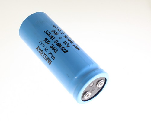 Picture of CGS272U150U4L MALLORY capacitor 2,700uF 150V Aluminum Electrolytic Large Can Computer Grade