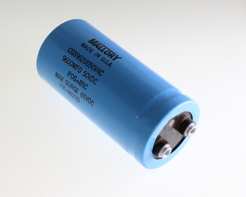 Picture of CGS962U050V4C3PH MALLORY capacitor 9,600uF 50V Aluminum Electrolytic Large Can Computer Grade