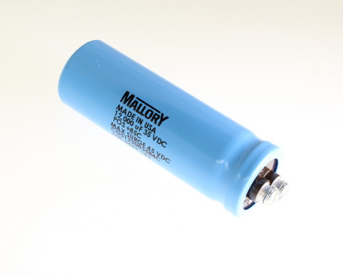 Picture of CGS123U035R4C MALLORY capacitor 12,000uF 35V Aluminum Electrolytic Large Can Computer Grade