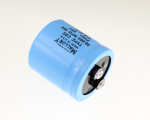 Picture of CGS303U15V2C MALLORY capacitor 30,000uF 15V Aluminum Electrolytic Large Can Computer Grade