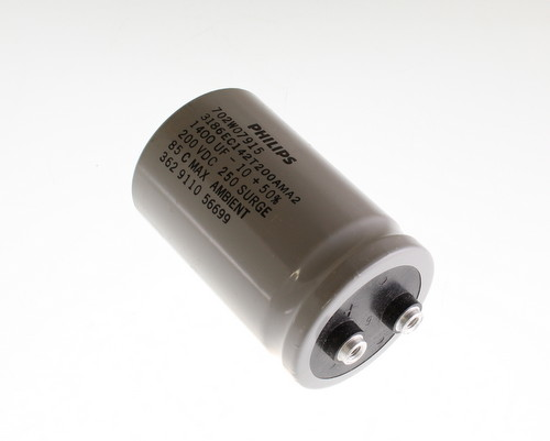 Picture of 3186EC142T200AMA2 PHILIPS capacitor 1,400uF 200V Aluminum Electrolytic Large Can Computer Grade