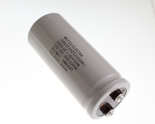 Picture of 3186EF242T200AMA1 PHILIPS capacitor 2,400uF 200V Aluminum Electrolytic Large Can Computer Grade