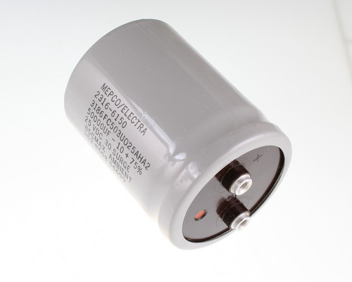 Picture of 3186FC503U025AHA2 PHILIPS capacitor 50,000uF 25V Aluminum Electrolytic Large Can Computer Grade