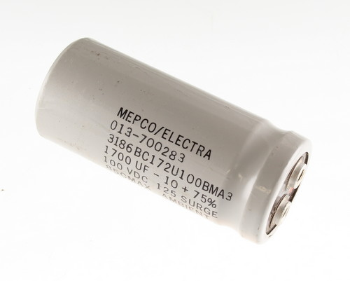 Picture of 3186BC172U100BMA3 MEPCO capacitor 1,700uF 100V Aluminum Electrolytic Large Can Computer Grade