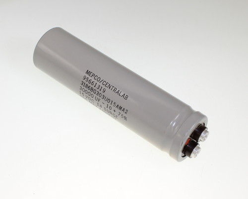 Picture of 3186BG303U015AMA2 MEPCO capacitor 30,000uF 15V Aluminum Electrolytic Large Can Computer Grade