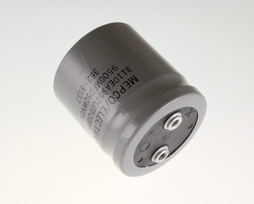 Picture of 3110EA952U050BPA1 MEPCO capacitor 9,500uF 50V Aluminum Electrolytic Large Can Computer Grade
