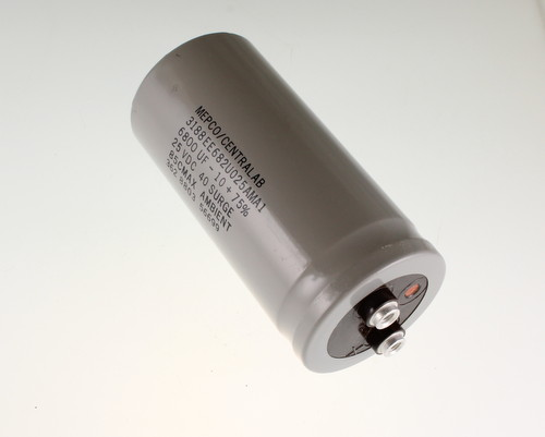 Picture of 3188EE682U025AMA1 MEPCO capacitor 6,800uF 25V Aluminum Electrolytic Large Can Computer Grade