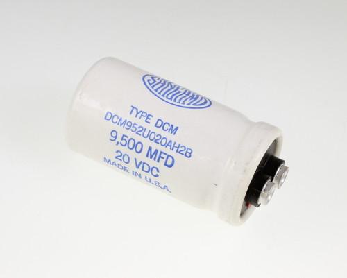 Picture of DCM952U020AH2B SANGAMO-CDE capacitor 9,500uF 20V Aluminum Electrolytic Large Can Computer Grade
