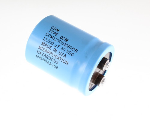 Picture of DCM123U040BH2B CDE capacitor 12,000uF 40V Aluminum Electrolytic Large Can Computer Grade