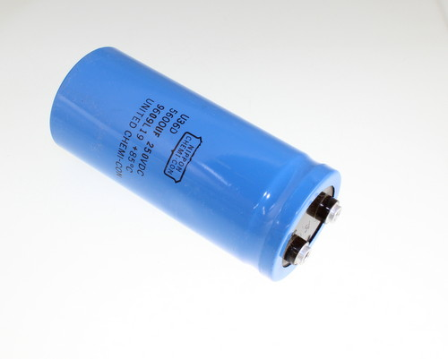 Picture of U36D251HPN562MCB7 UCC capacitor 5,600uF 250V Aluminum Electrolytic Large Can Computer Grade