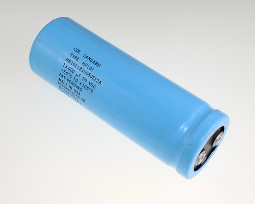 Picture of HR101133U050EE2A Cornell Dubilier (CDE) capacitor 13,000uF 50V Aluminum Electrolytic Large Can Computer Grade