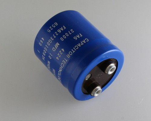 Picture of FA6273G0100DB1H CAPACITOR TECHNOLOGY capacitor 27,000uF 10V Aluminum Electrolytic Large Can Computer Grade
