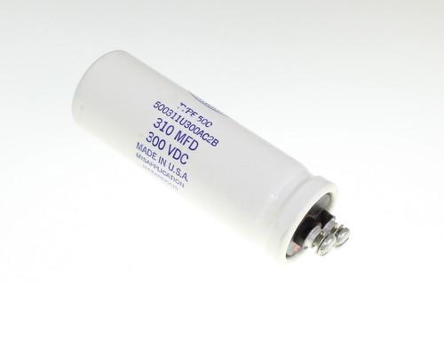Picture of 500311U300AC2B Sangamo capacitor 310uF 300V Aluminum Electrolytic Large Can Computer Grade