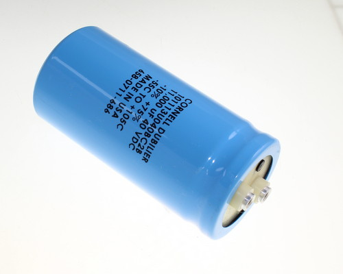 Picture of 101113U040BC2B Cornell Dubilier (CDE) capacitor 11,000uF 40V Aluminum Electrolytic Large Can Computer Grade