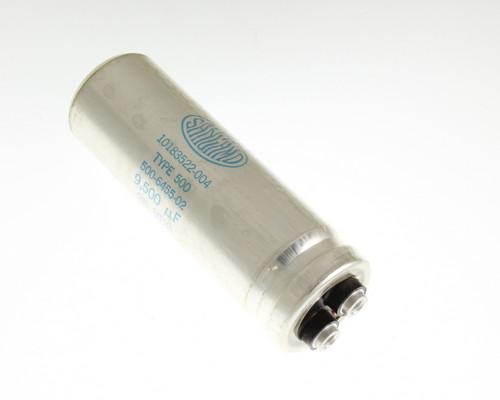 Picture of 500952U025AC2B Sangamo capacitor 9,500uF 25V Aluminum Electrolytic Large Can Computer Grade