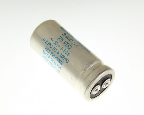 Picture of HVHR101292T075AB2A SANGAMO-CDE capacitor 2,900uF 75V Aluminum Electrolytic Large Can Computer Grade