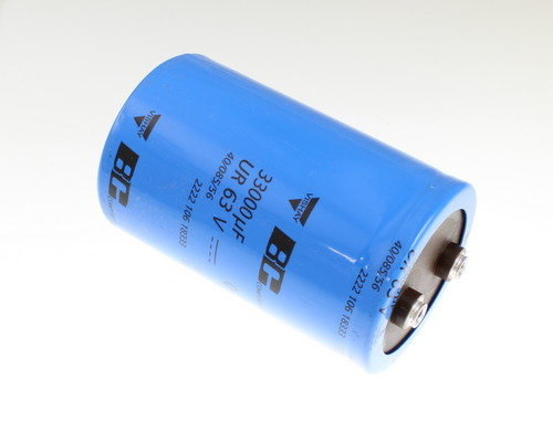 Picture of 222210618333 PHILIPS capacitor 33,000uF 63V Aluminum Electrolytic Large Can Computer Grade