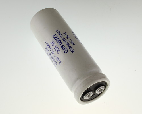 Picture of 139R123M035AC2A Sangamo capacitor 12,000uF 35V Aluminum Electrolytic Large Can Computer Grade