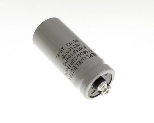 Picture of 3114BC622U015APA1 PHILIPS capacitor 6,200uF 15V Aluminum Electrolytic Large Can Computer Grade