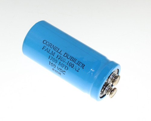 Picture of FALM1700-100-A2 Cornell Dubilier (CDE) capacitor 1,700uF 100V Aluminum Electrolytic Large Can Computer Grade